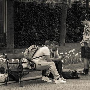 ... stojící, sedící, ležící
