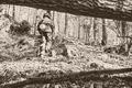 Sám vojak v poli (v lese) :)