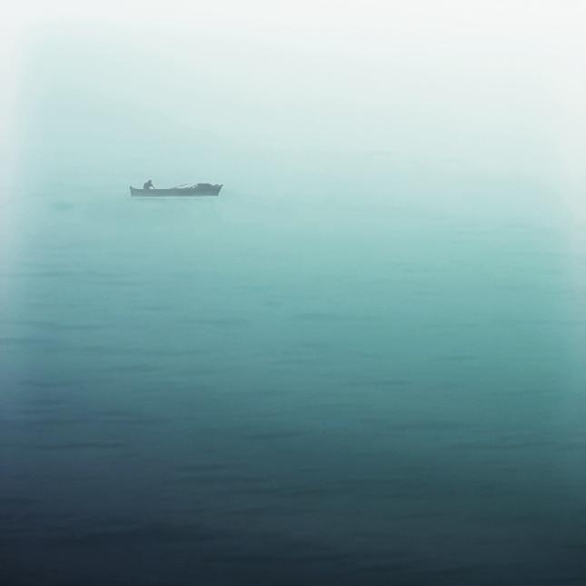 Rybár v hmle