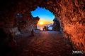 Západ slnka z hradu Monolithos