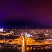 Zimná panoráma v Bratislave