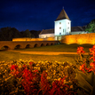 Večerné osvetlenie hrad Nádasdy