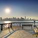 Východ slnka Midtown Manhattan