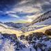 Západ slnka pohľad na Alpy