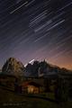 Mesačná noc v Dolomitoch