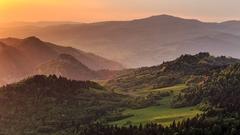 Západ slnka v Pieninách