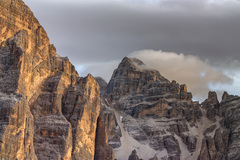 Svitanie v Dolomitoch