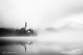 Ráno na jazere Bled