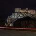 Beckovský hrad za svitu mesiaca