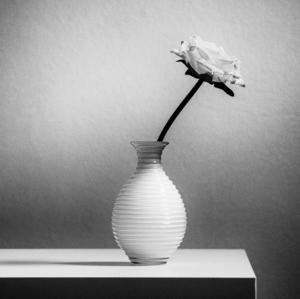 Vázička s ružou