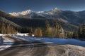 ranná zimná hornatá krajinka :)