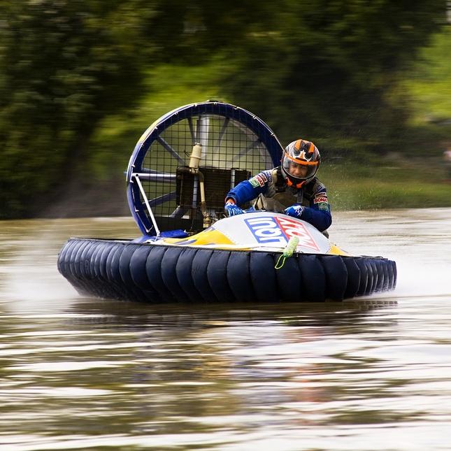 Hovercraft in slide.