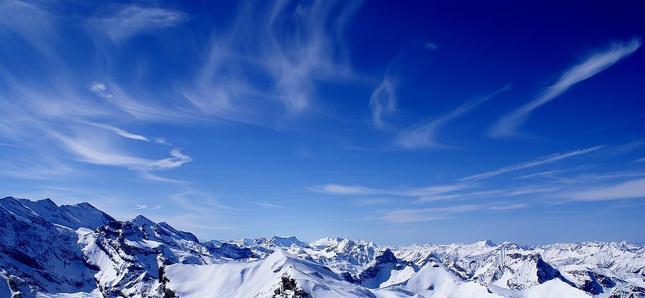 Pohľad na Švajčiarske Alpy