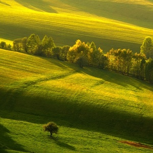 Podvečerná krajinka Horehronská.