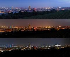 Bratislava podvečér, večér a hád