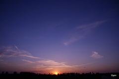 Západ slnka pri Trhovej Hradskej