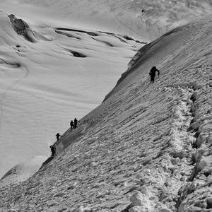 cesta cez ľadovec