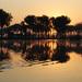 ráno na jezere