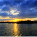 ..súmrak nad jazerom..