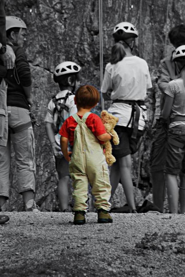 Maly horolezec :)