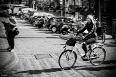 Veselá cyklistka