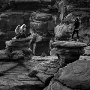 Fotenie na Dead Horse Point/BW