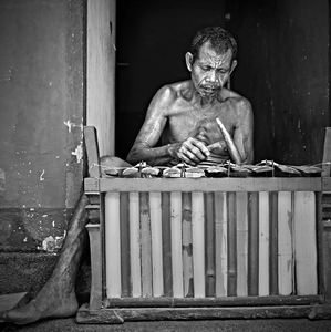 Slepý hráč gamelanu