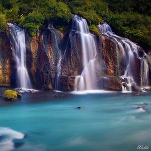 Lávový vodopád