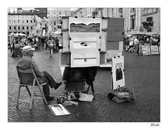 Maliar z Piazza Navona