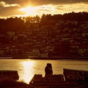 Sunset na Ohride