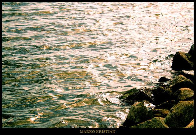 Golden waters