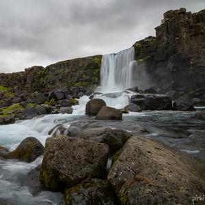 Vodopád v Þingvellir