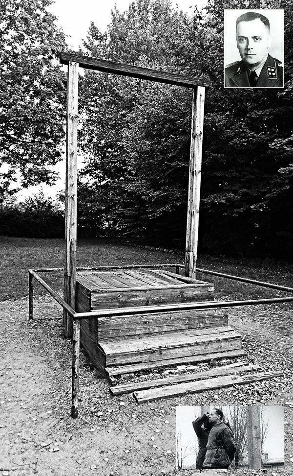 šibenica na ktorej bol obesený Rudolf Hoss
