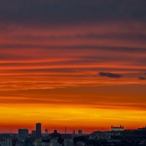 Bratislava - západ slnka
