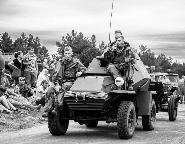 Vozidlo ba-64 používané ruskými prieskumníkmi počas 2.sv vojny