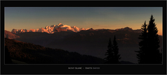 Mont Blanc •• Sunset