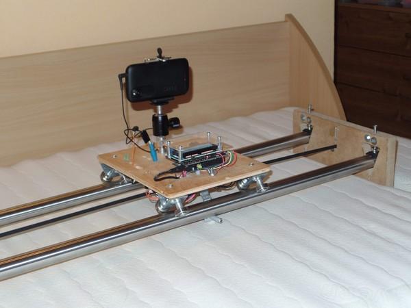 1. version TimeLapse slider & dolly & rail, časozberné video a fotografia, DIY project based on Arduino