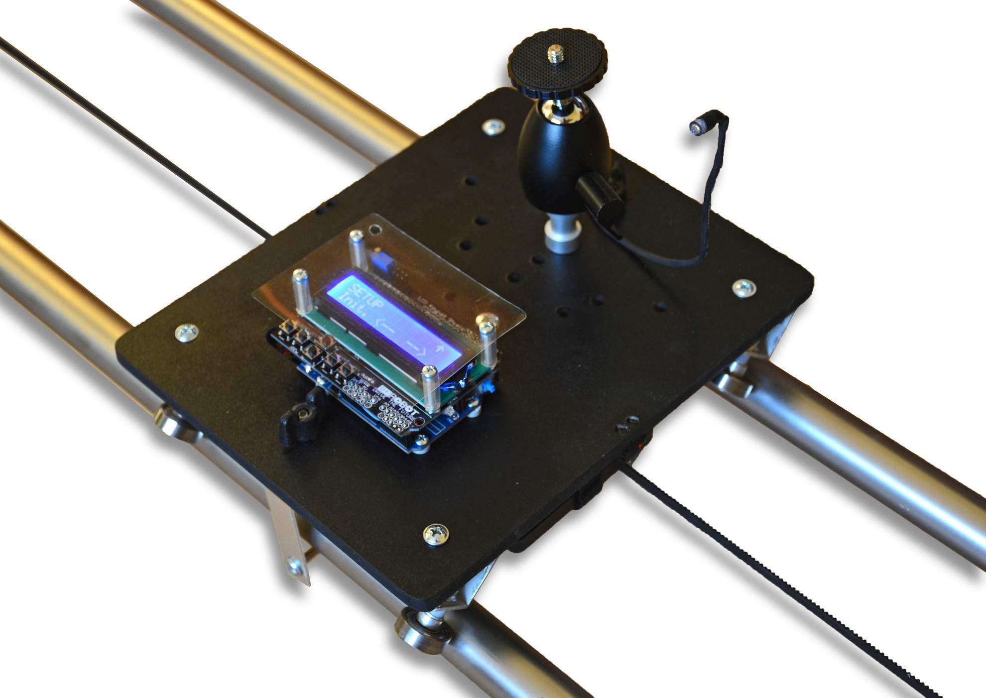 Slider pre TimeLapse - vozik, Motorized TimeLapse slider & dolly & rail, časozberné video a fotografia, DIY project based on Arduino