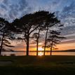 Zapad slnka z golf club