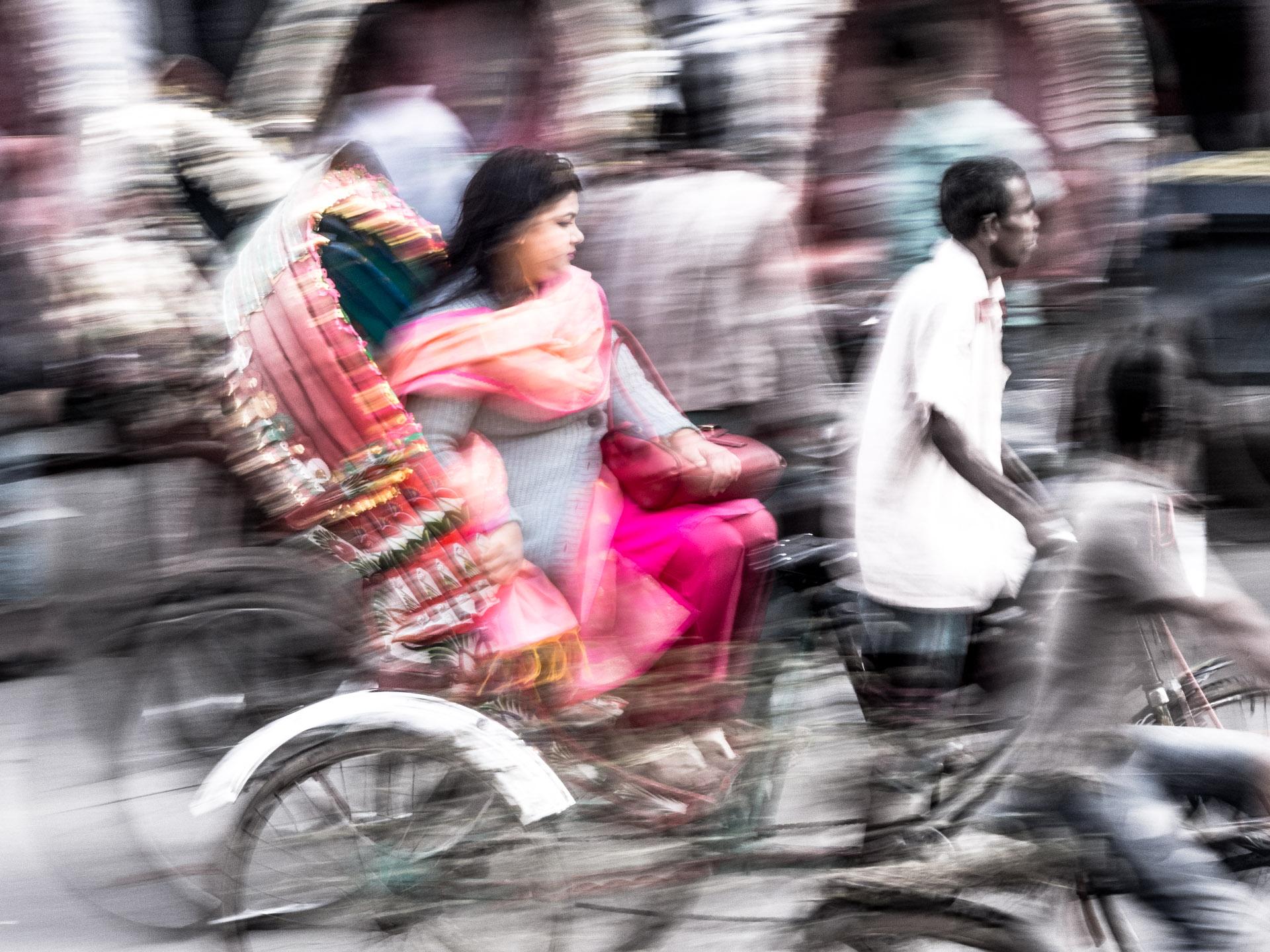 Bangladéš-Dhaka-Rikša