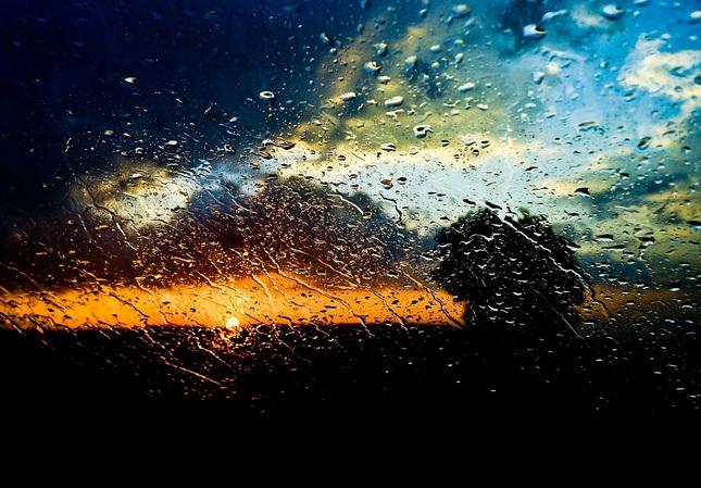 daždivo, oblačno, slnečno