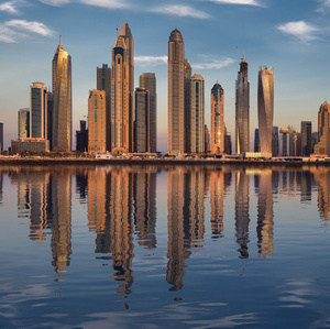 Dubai 8 Marina golden hour