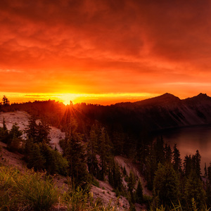 Sunset at Crater Lake 2