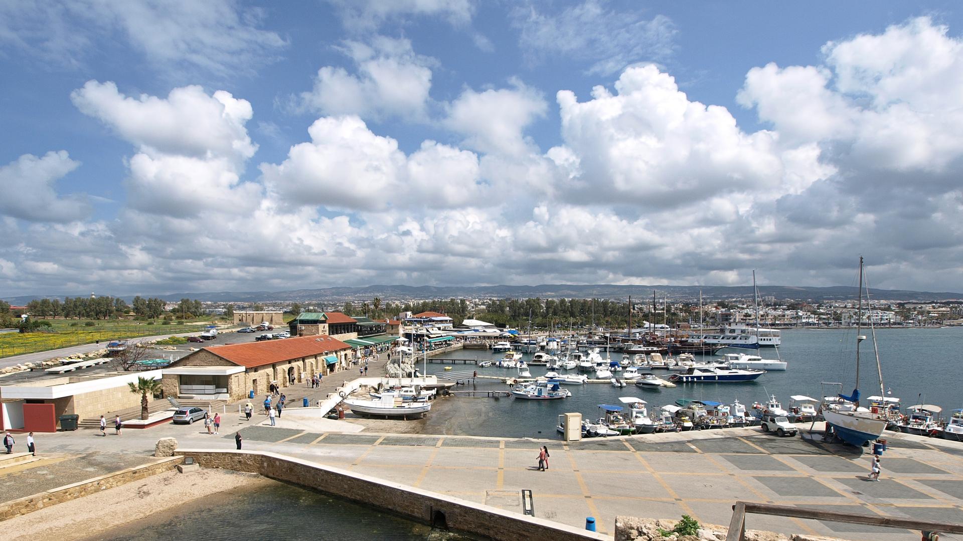 prístav v Kato Paphos (dolný Paphos)
