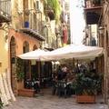 Pouličné reštaurácie v Palerme