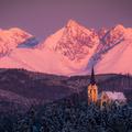 Mariánska hora s Tatrami.