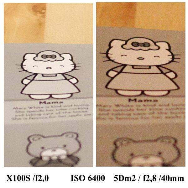 5D mark II vs Fuji X100s