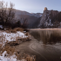 Winter sunrise at Strecno castle II.