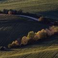 Jesenný západ na poliach