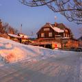 Zimný východ na Holubyho chate